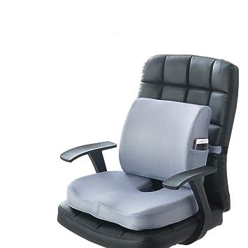 Memory Foam Cojines de asiento El soporte lumbar brinda alivio para el dolor en la parte inferior de la espalda Sciatica Coccyx asiento almohada para silla ...