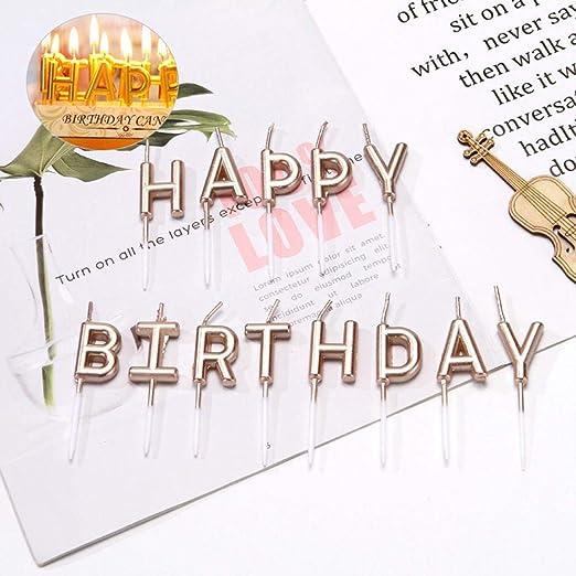 Umiwe Feliz Cumpleaños Carta Velas, 13 Piezas Velas de ...