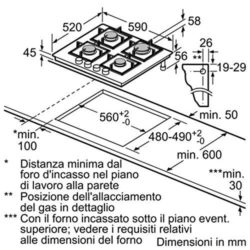 Siemens EP6A6PB20 Integrado Encimera de gas Negro hobs - Placa (Integrado, Encimera de gas, Vidrio, Negro, hierro fundido, 1000 W): Amazon.es: Grandes ...
