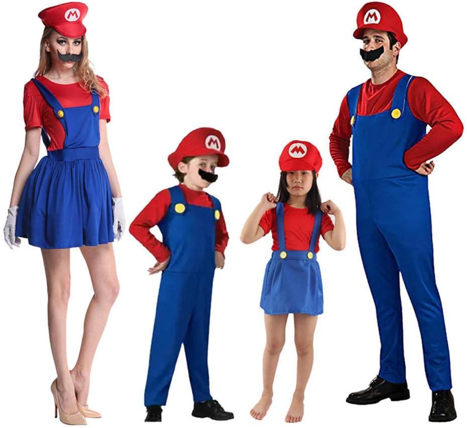 Super Mario Cosplay Adultos y niños Bros Cosplay Traje de baile ...