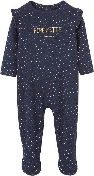 VERTBAUDET Lot de 2 pyjamas b/éb/é en pur coton motif baleines lot bleu PREMA 45CM