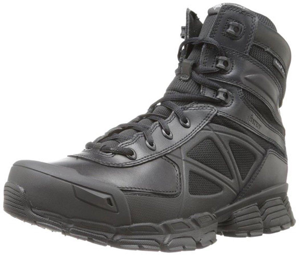 Bates Men's Velocitor Black Zip Waterproof Boot, Black, 7.5 M US