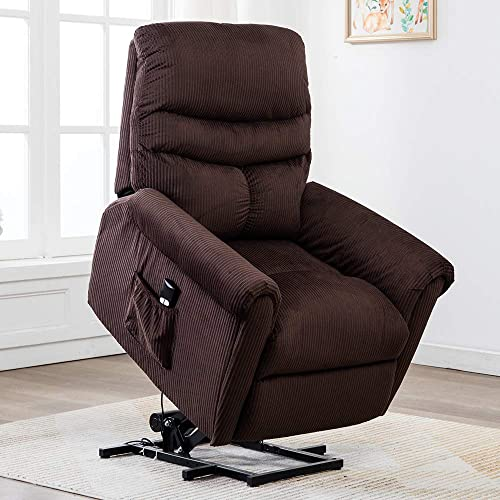 Power Lift Recliner Chair – Bonzy Home Electric Lift Recliner for Elderly and Disabled, Overstuffed Reclining Chair Living Room Cozy Single Sofa Chair with Remote Control Coffee