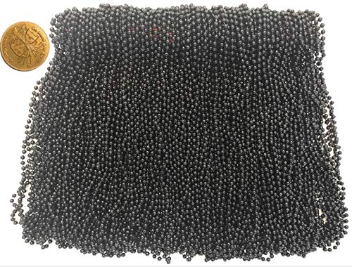 Mardi Gras Beads 33 inch 7mm, 12 Dozen, 144 Pieces, Black Necklaces with Doubloon]()