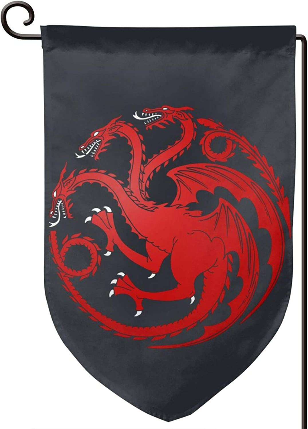 ETONKIDD House-Targaryen- Fire-Blood-Game-of-Thrones Welcome Garden Flag Double-Sized Print Decorative Holiday Home Flag