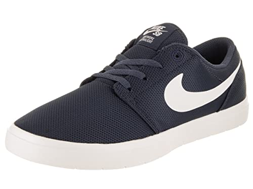 Nike Kids Portmore II Ultralight (GS) Thunder Blue/Summit White Skate Shoe 4
