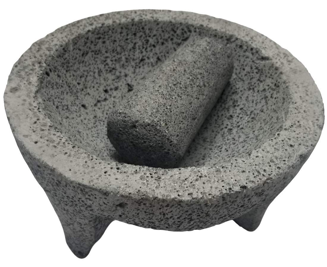 TLP Molcajete authentic Handmade Mexican Mortar and Pestle 8.5""