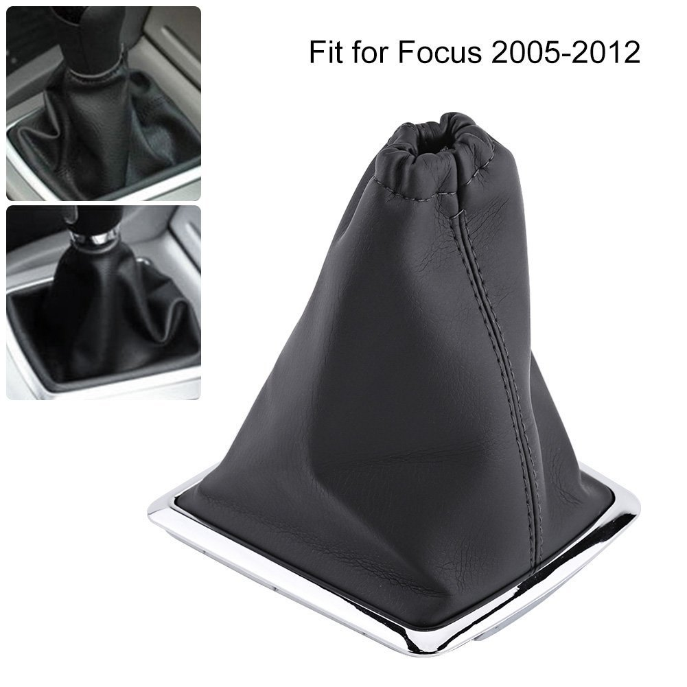 Qiilu Funda pomos de palanca de cambios Bota de cuero de PU reemplazo Cubierta de polvo para Ford Focus 2005-2012: Amazon.es: Coche y moto