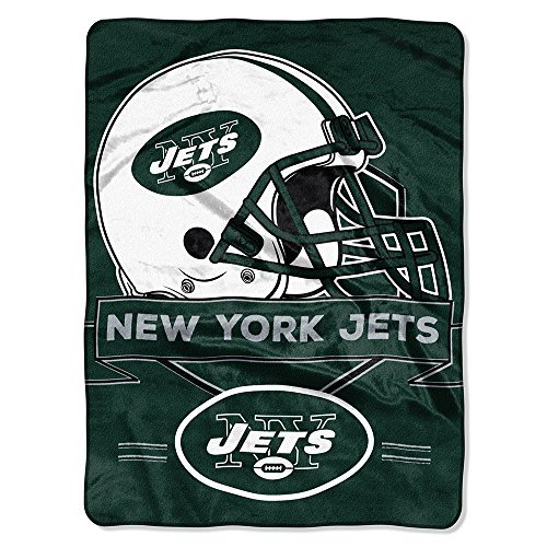 New York Jets Comforter (NFL New York Jets Prestige Plush Raschel Throw, 60