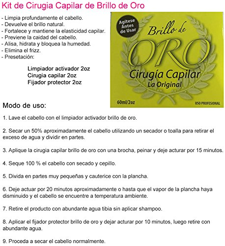 Amazon.com : CIRUGÍA CAPILAR (COMPLETE KIT) GOLDEN SHINE (Surgery, Shampoo, Aconditioner and Mask) 250 ml : Everything Else