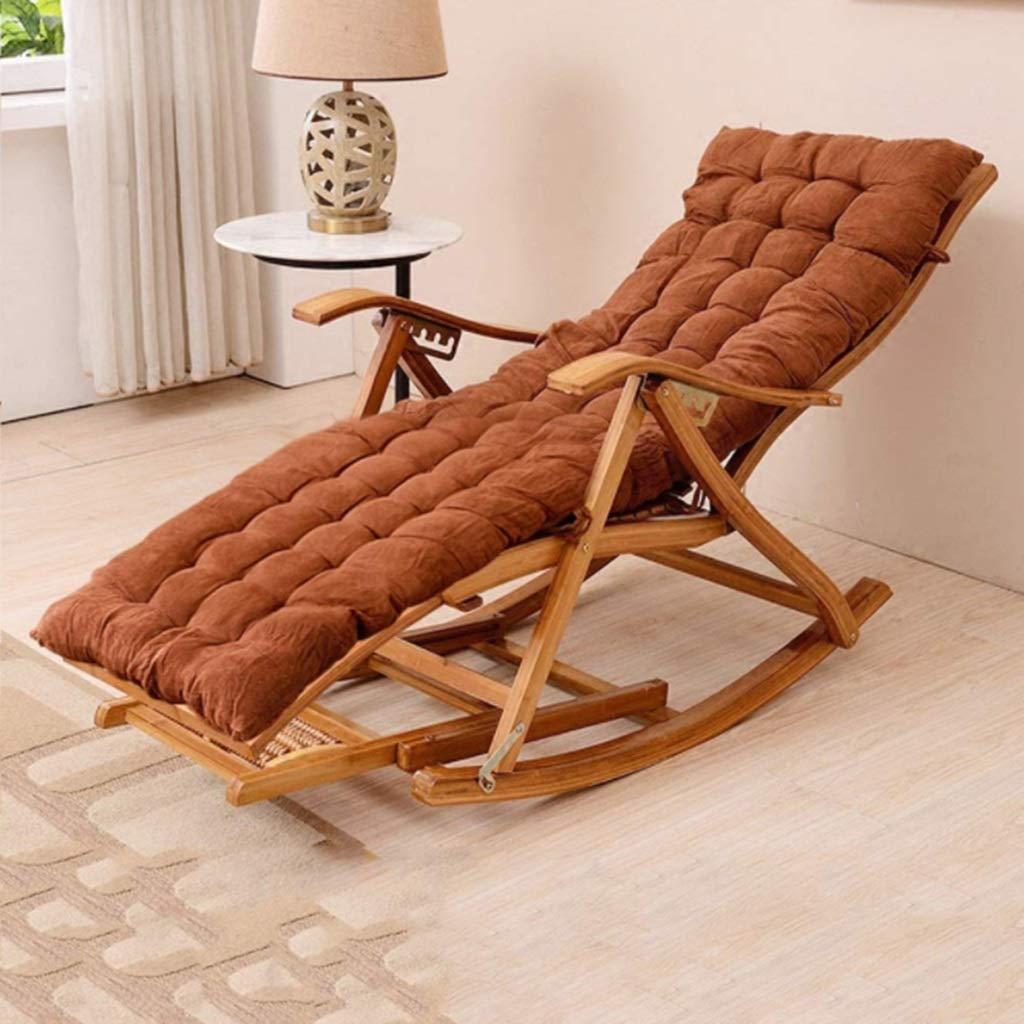 Amazon.com: XEWNEG - Tumbona plegable de jardín, mecedora de ...