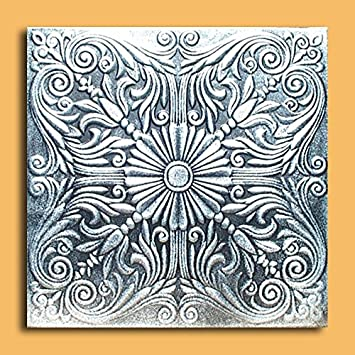 Antique Ceilings Inc   Astana Silver Black   Styrofoam Ceiling Tile  (Package Of 10 Tiles