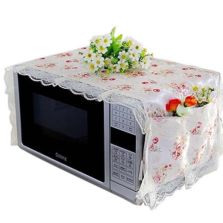 Cubierta elegante del diseño de las flores del horno microondas de ...
