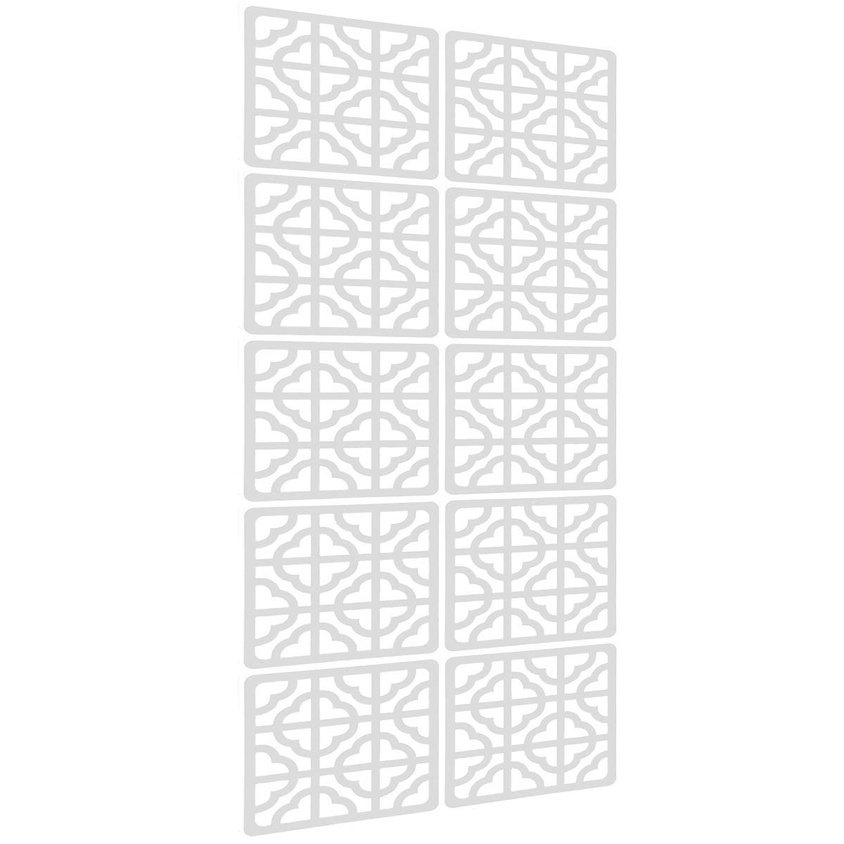 E-life Technology Hanging Room Divider - 10Pieces Wood-Plastic Hanging Screen Panel Room Home Hotel Safety Partition