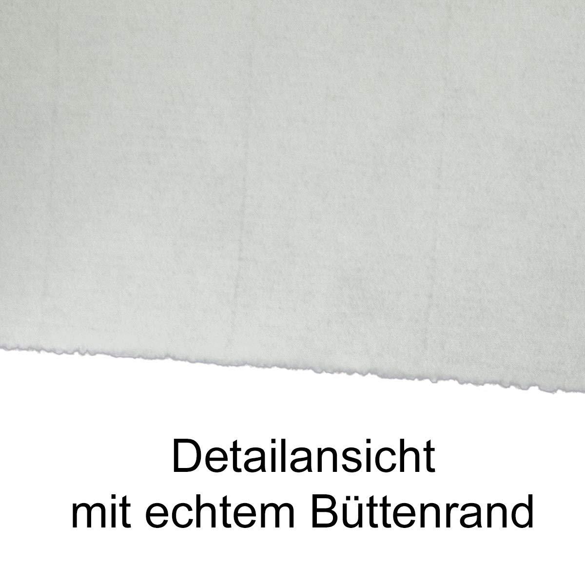 200x echtes Bütten-Papier DIN A4 Brief-Papier - - - ohne Wasserzeichen - Vintage-Papier handgemacht, 210 x 297 mm, Naturweiß - von Zerkall Bütten B07GT1PKND | Guter Markt  aebfef