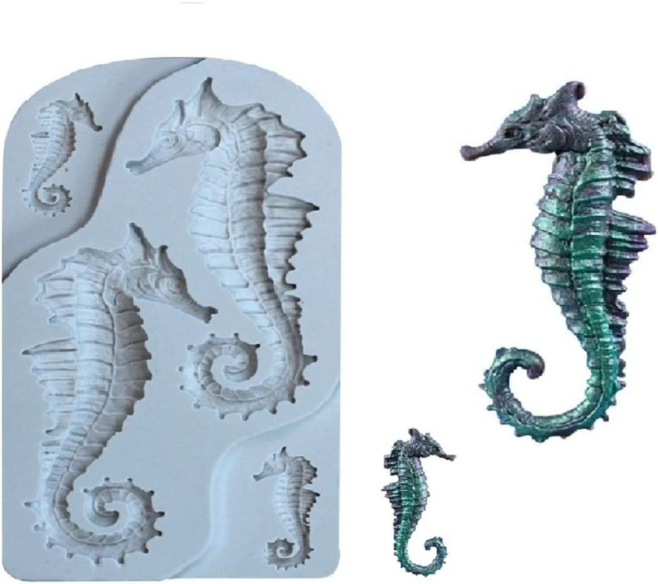 Tongker New Seahorse Shape Fondant Candy Safety and trust Cake Chocolate Sil Financial sales sale Mold