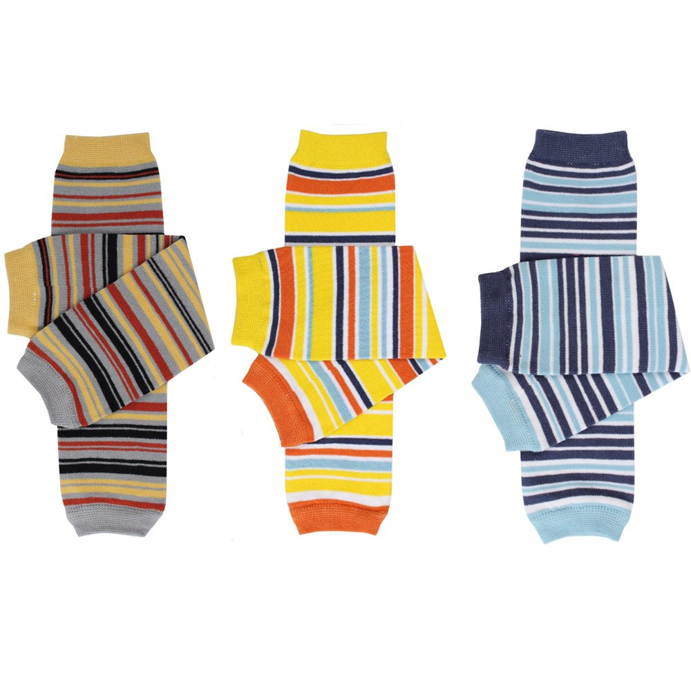 juDanzy newborn & regular baby & toddler boys leg warmers in a variety of prints (One Size (10 pounds to 10+ years), 3 Pack Boy Stripes) by juDanzy