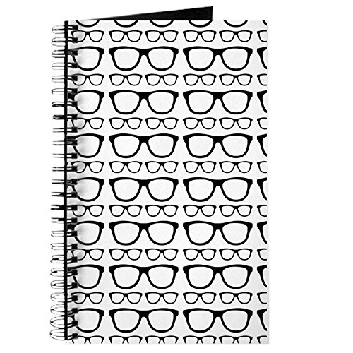 CafePress - Cute Retro Eyeglass Hipster Journal - Spiral Bound Journal Notebook, Personal Diary, - Hipster Buy Glasses