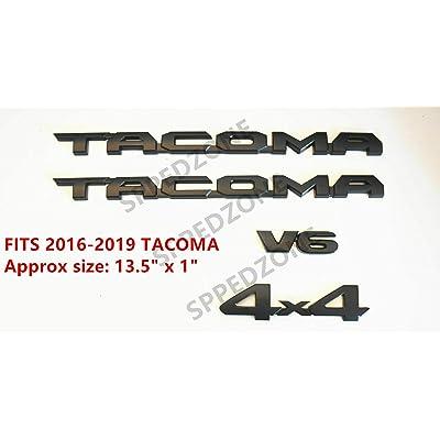 OLPAYE Fit For compatible Tac Matte Black Tag Door Fender Emblem Decal Badge Nameplate (MATTE BLACK 4PCSFor 2016-2020 Tacoma): Automotive