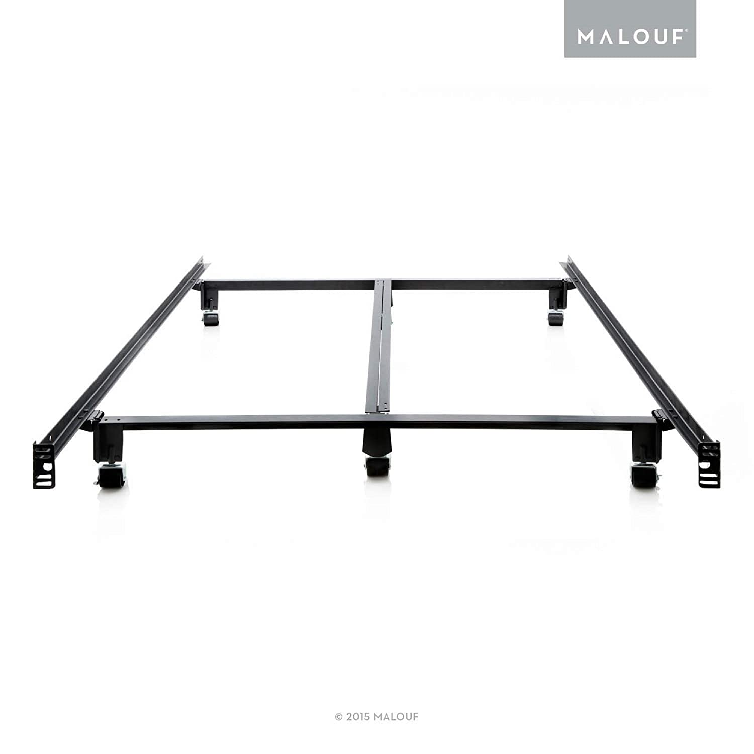 MALOUF Structures STEELOCK Super Duty Steel Wedge Lock Metal Bed Frame – Cal King