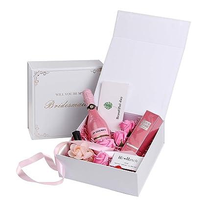 Akitsuma Bridesmaid Boxes Bridesmaid Proposal Box Bridesmaid Gift Box Will You Be My Bridesmaid Set Of 5 Empty Boxes Us Aki 015
