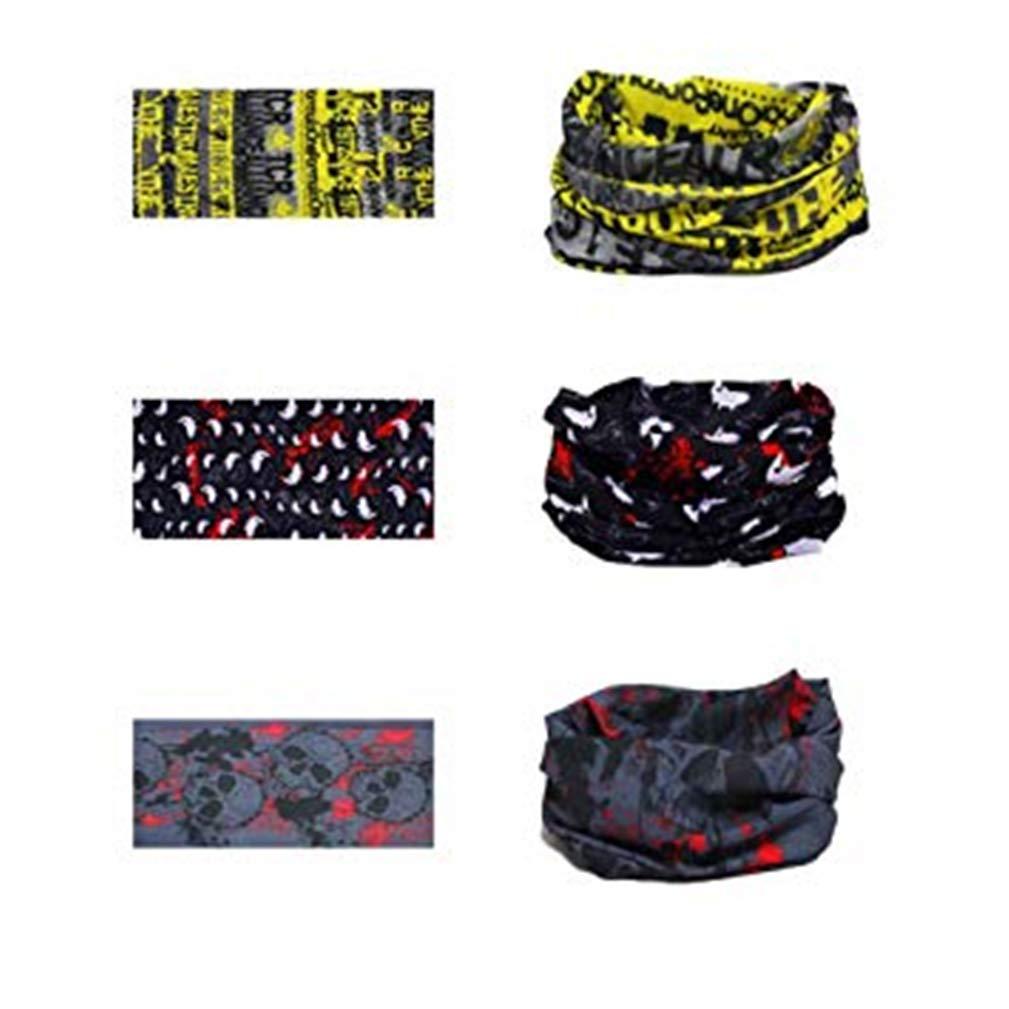 3 Pcs Multifonction Bandanas sans Coutures Tour de Cou Echarpe Foulard Tube Masque Bandeau Bracelet pour Yoga Course /à Pied Randonn/ée Cyclisme