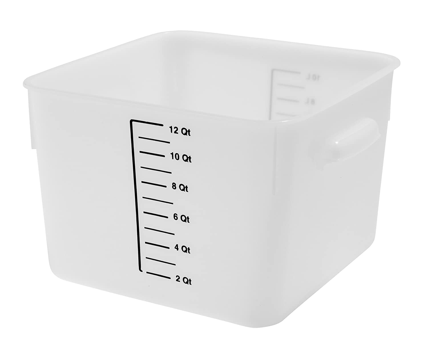 Rubbermaid Commercial Products FG9F0900WHT Food Storage Container, Space-Saver, Square, 22 quart, White