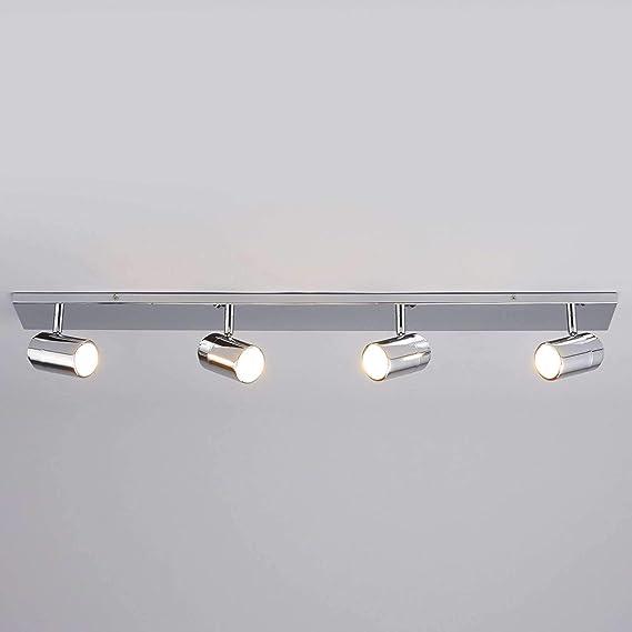in Chrom aus Metall u.a f/ür Badezimmer Lampenwelt Deckenlampe Dejan dimmbar Badezimmerleuchte 3 flammig, GU10, A++ - Bad Deckenleuchte Modern Lampe spritzwassergesch/ützt