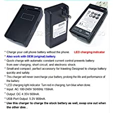 CellPhone Charger for LG Optimus G Pro ,E980(AT&T) – External Dock Battery Charger Wall Home Spare Extra Travel
