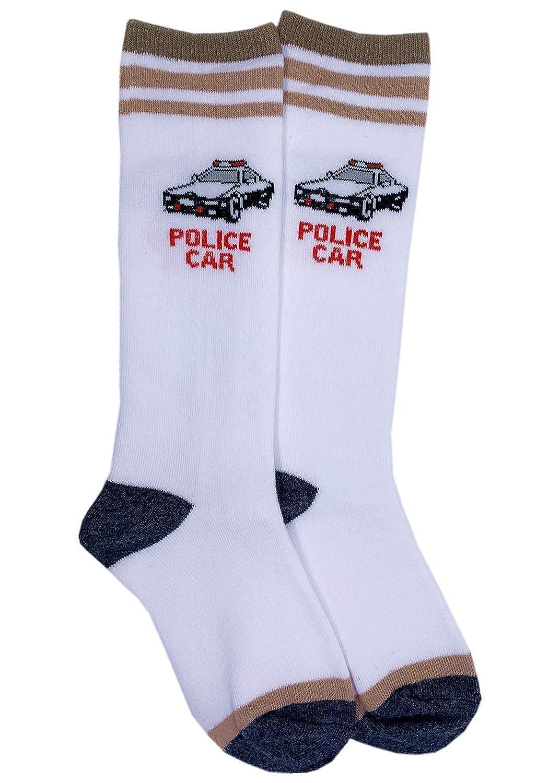 Boys Knee High Tube Socks Colorful Stars Comfort Cotton Stockings Socks 8 Pair