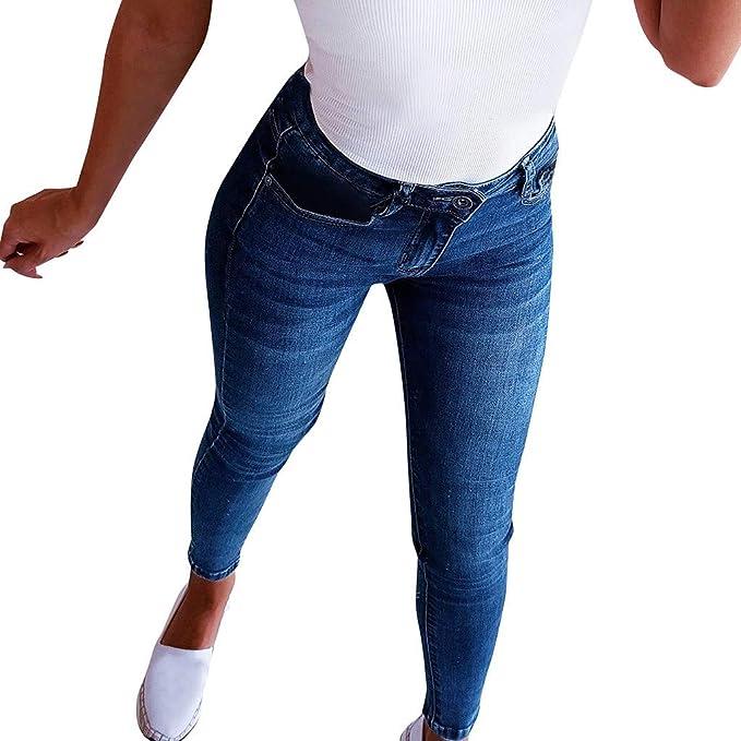 Vaqueros Talla Grande Mujer, Jeans De Cintura Rotos Tejanos ...