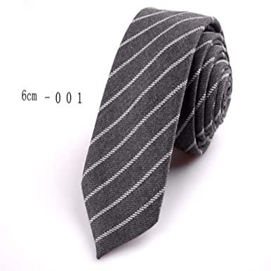 ZFZFZF Corbata de algodón delgada casual Corbata de lino a cuadros ...