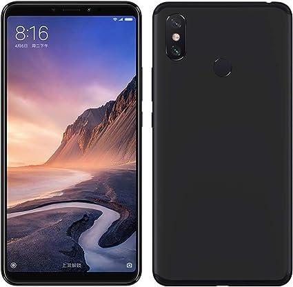 TBOC® Funda de Gel TPU Negra para Xiaomi Mi MAX 3 (6.9 Pulgadas ...