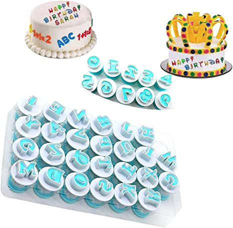 Capital Alphabet Embossed Cutter Cake Tool Mold Letter Cookie Fondant Stamp
