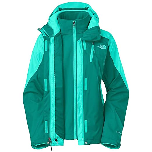 b5f9f7e57dbe THE NORTH FACE WOMENS CONDOR TRICLIMATE FANFARE GREEN 3 IN 1 JACKET SZ  XSMALL