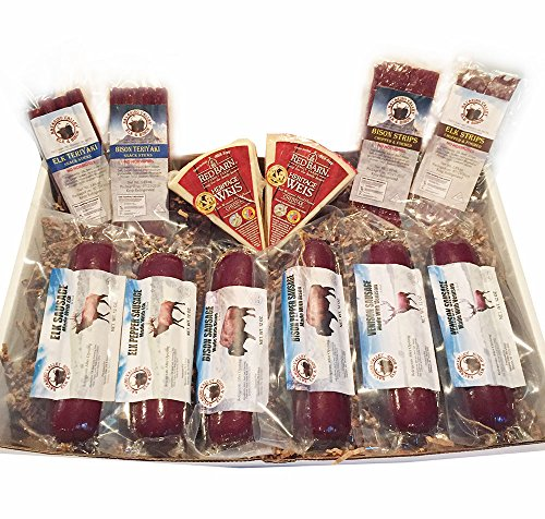 Bison, Elk and Venison Variety Snack Gift Box by Wisconsinmade