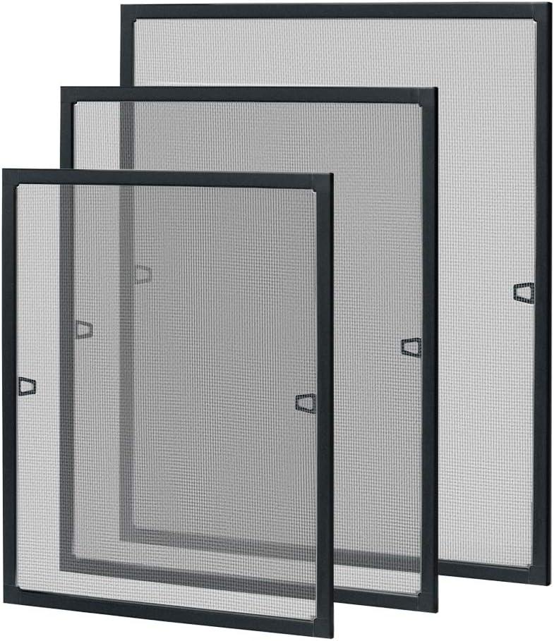 LZQ Fliegengitter Fenster Insektenschutz Fliegenschutzgitter m/ückengitter moskitonetz gitter mit Aluminium Rahmen ohne Bohren und Schrauben 80 /× 100 cm Braun