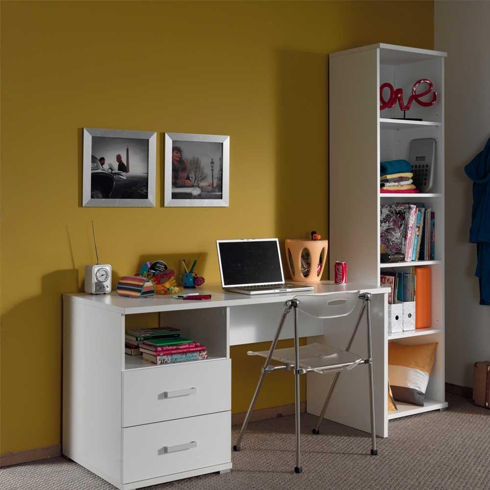 Pharao24 Möbelset für Jugendzimmer mit Schreibtisch