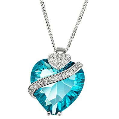 Goldmaid Women 925 Sterling Silver Cubic Zirconia Heart Necklace mxpFCW