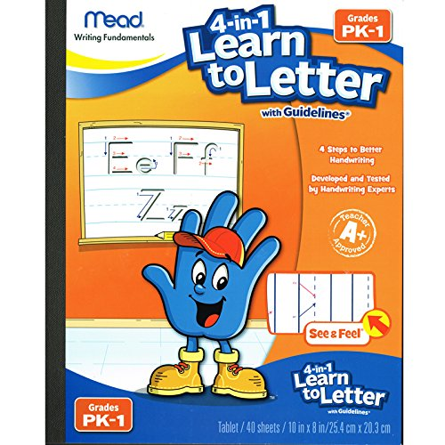 Mead 4-in-1 Learn to Letter with Guidelines Grade Pk-1 (Mead Writing)