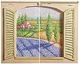 Tuscan Field 3-D Window with Shutters Wall Art