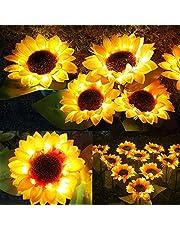 Solar Lights Outdoor Garden Stake, Large Sunflower Solar Powered Flower Lights, 2 Pack LED Solar Landscape Decorative Lights, for Garden, Patio,Lawn,Backyard Night Lights