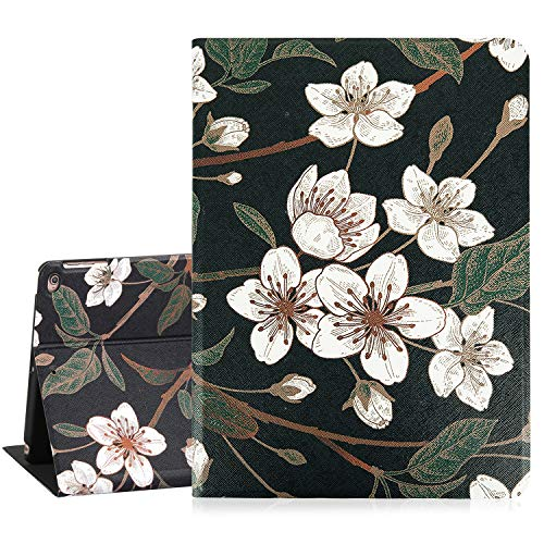 - iPad 9.7 Case 2018 Floral iPad Air 2 Cases with Plum Flower Leather Stand Folio Cover Case Lightweight Smart Corner Protection Case with Auto Sleep Wake Function for iPad 6th/5th Gen iPad Air 1/2