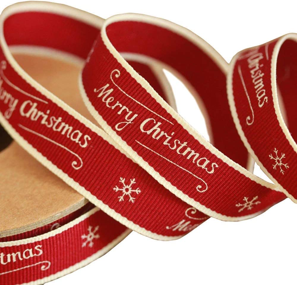 Merry Christmas 3 Metre Roll 3186 EOI EAST OF INDIA vintage word ribbon