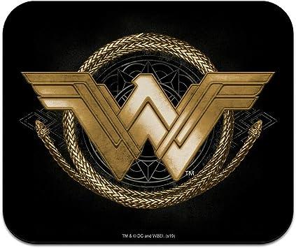 Amazon Com Wonder Woman Movie Golden Lasso Logo Low Profile Thin Mouse Pad Mousepad Office Products