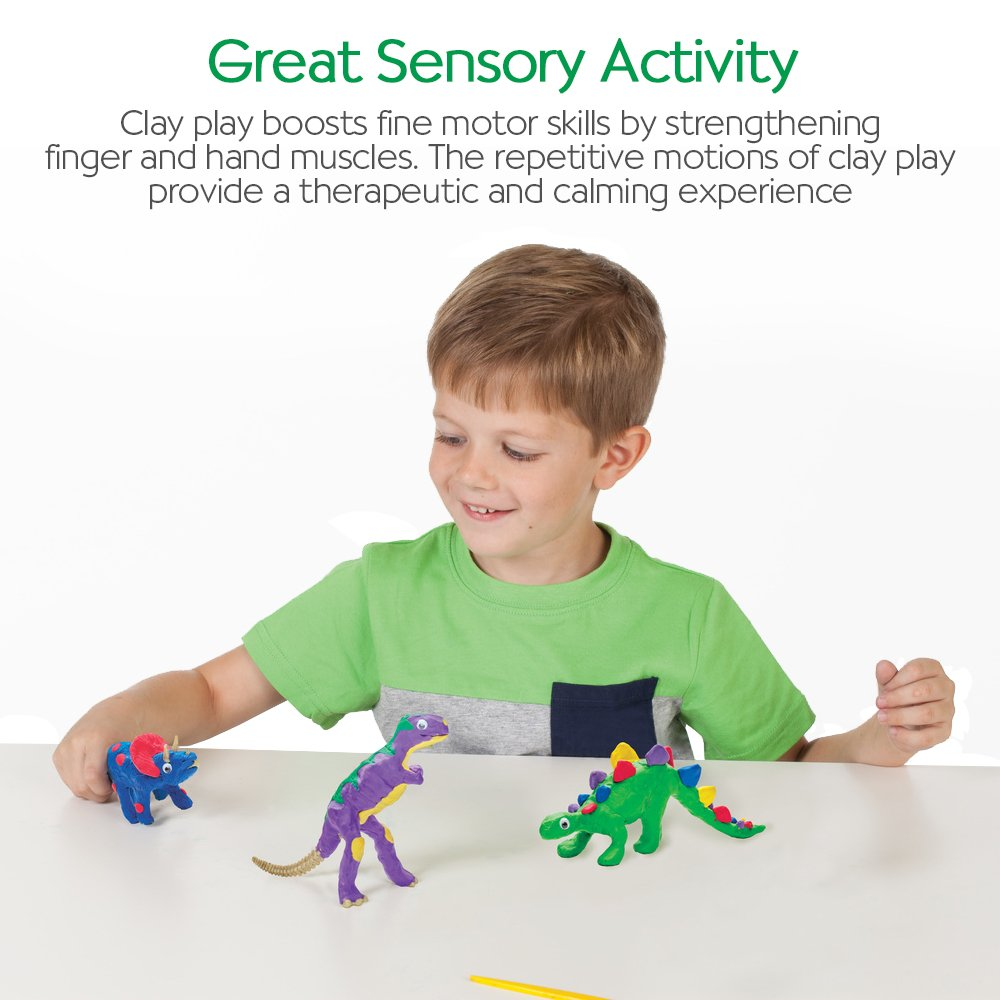 Build 3 Dinosaur Figures with Modeling Clay Faber-Castell 6174000 Creativity for Kids Create with Clay Dinosaurs