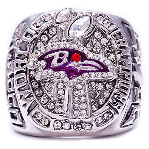 MVPRING Super Bowl 1966-2019 Replica Championship Ring (Size 11) New England Patriots Philadelphia Eagles Denver Broncos Chicago Bears New Orleans Saints Seahawks (Size 11, 2012 Baltimore Ravens) (Super Baltimore Ring Ravens Bowl)