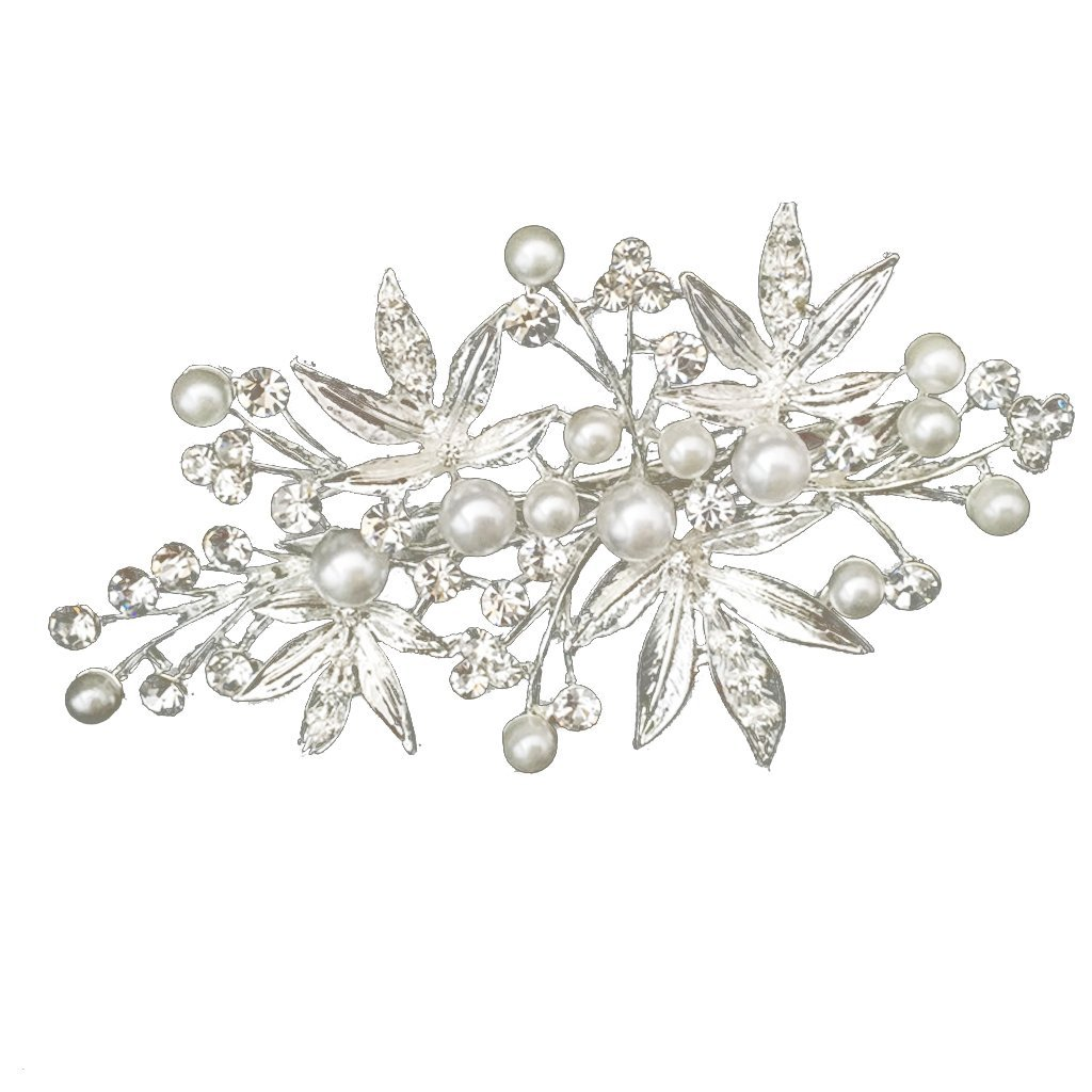 Diamante Pearl Flower Hairpin Hair Accessories for Bride Wedding Party Generic STK0156003294