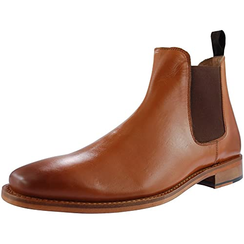 d986336d3104 Kensington TED Mens Leather Chelsea Boots Tan  Amazon.co.uk  Shoes ...