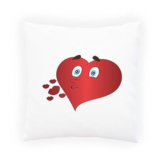 Nuevos besos del corazón Almohada decorativa, Funda de cojín ...